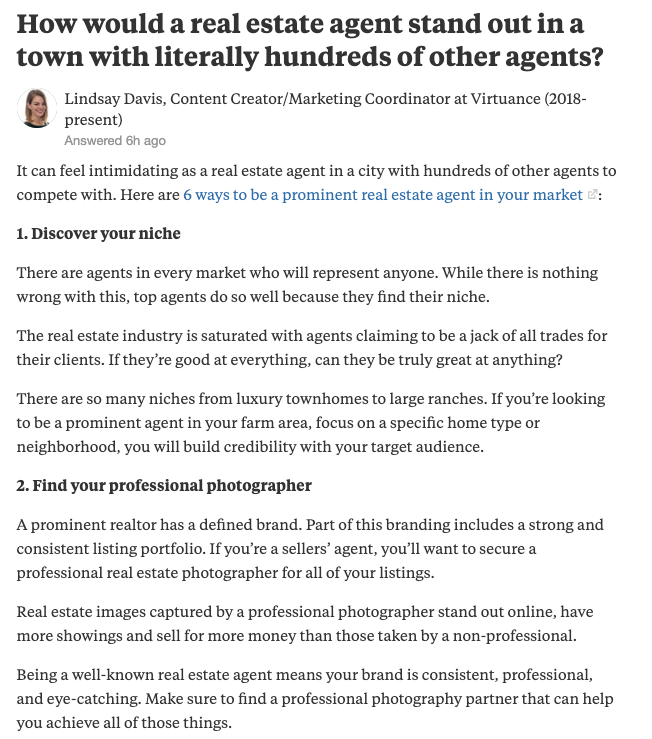 quora question - 17 ways to advertise