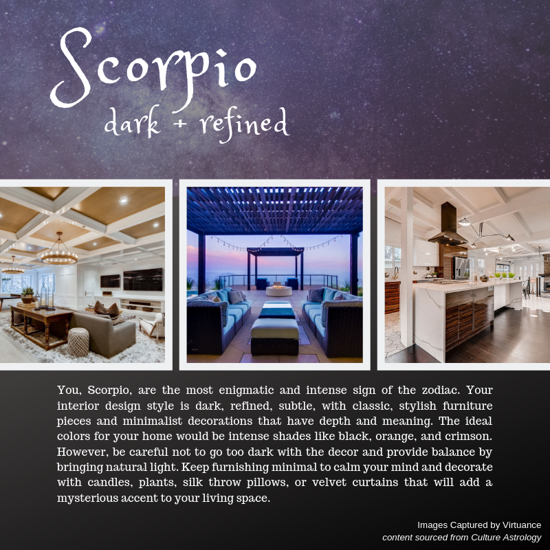 what is your design style - horoscope - virtuance- scorpio